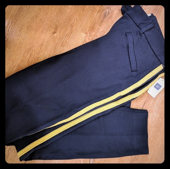 GAP Pants - Gap Navy and gold band pants 0